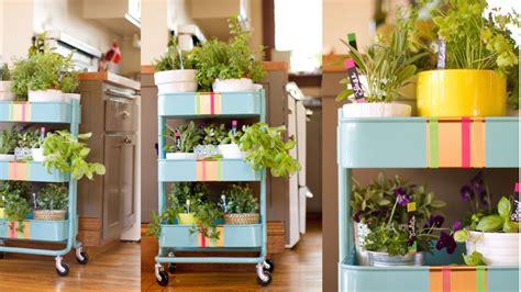 hack  kitchen cart   rolling herb garden