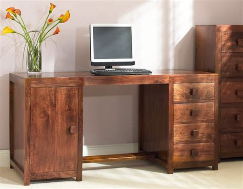 Mango Computer Desk Solid Mango Wood Pedestal Desk Casa Handcrafted Indian Furniture