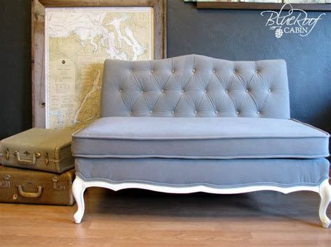how to reupholster a vintage sofa blue roof cabin january 2013