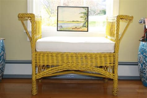 Sofa Shabby Chic Chester Yellow 7 best images about painted wicker on the chairs and vintage yellow