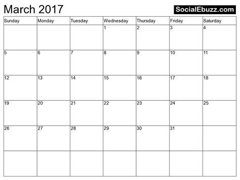 printable calendar march 2017 march 2017 calendar pdf monthly calendar 2017