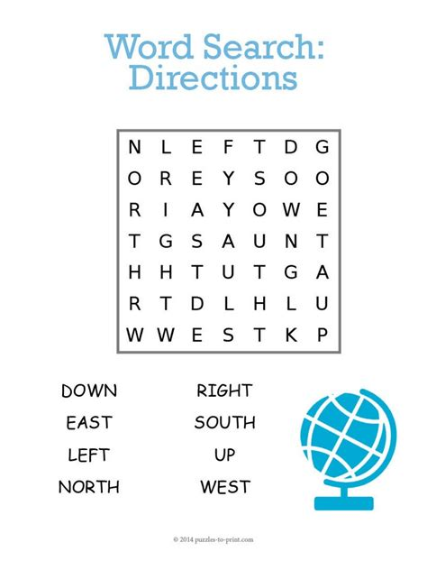Map Address Finder Directions Word Search