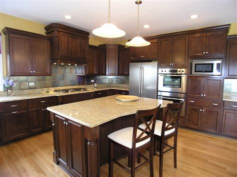 pics of kitchens with dark cabinets ideas for installing kashmir white granite as home surface