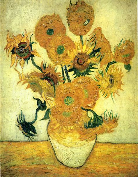 14 Sunflowers In A Vase by Still Vase With Fourteen Sunflowers Vincent