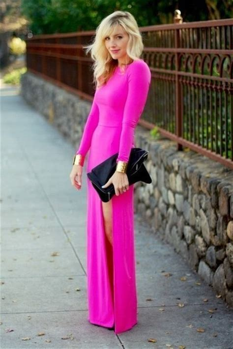 perfect slits hot pink slit dress unknown dresses quot perfect pink quot by