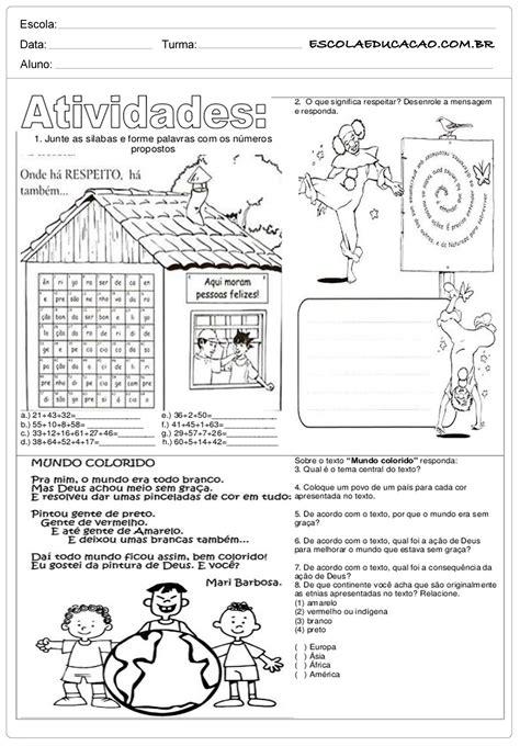Respeito - Ensino Religioso - 5º ano - Escola Educação