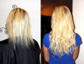 thin hair after extensions before after hair extensions