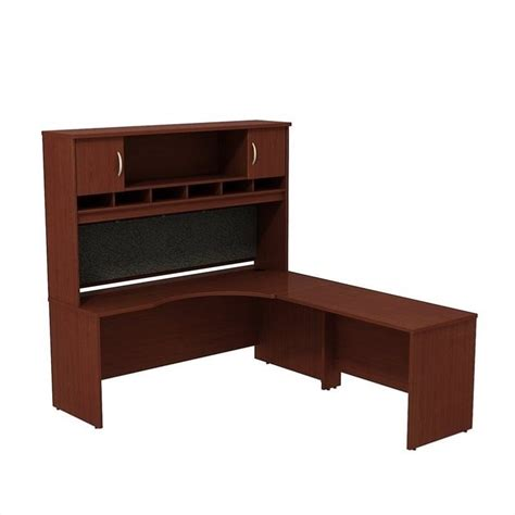 Mahogany Corner Desk Bush Bbf Series C 72w X 24d Rh Corner Desk With Hutch In Mahogany Src002mar