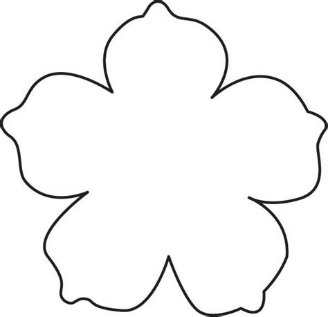 paper cut out templates flowers image result for flower template with cut out lines for