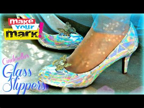 diy cinderella shoes how to cinderella s glass slippers diy