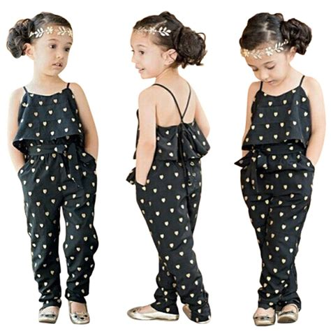jumpsuit pattern for toddlers fashion kids baby girls summer heart pattern jumpsuit