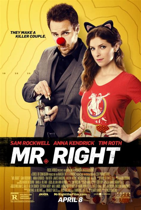film action dan comedy mr right 2016 movie poster anna kendrick tim roth