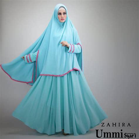 Baju Pesta Zahira zahira blue baju muslim gamis modern