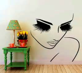 Beauty Wall Stickers Wall Decals Hairdressing Hair Beauty Salon Decal Vinyl Sticker