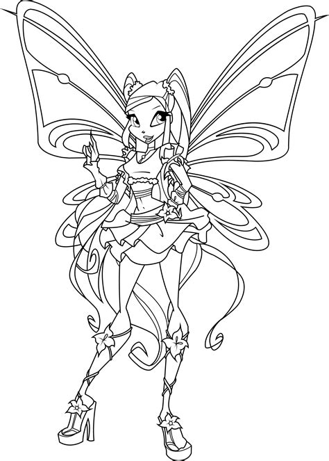free coloring pages of winx stella believix