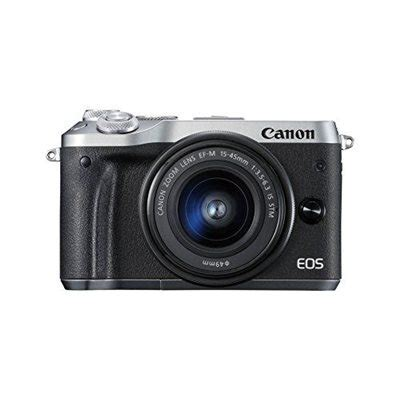 Canon Eos M6 Kit 15 45mm Is Stm fotocamera canon eos m6 kit 15 45mm is stm silver pronta