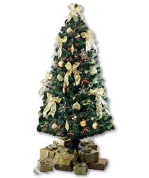 6ft gold decorated fibre optic christmas tree review