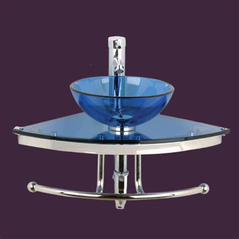 blue bathroom sinks corner sinks blue glass mini wall mount vessel corner sink