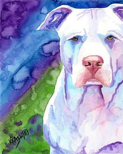pit paint pit bull print of original watercolor painting 11x14