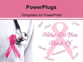 Cancer Powerpoint Templates by Powerpoint Template Pink Ribbon And Stethoscope Remember