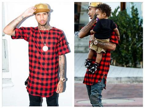 summer hip hop plaids cotton flannel t shirts for