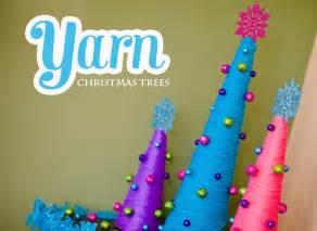 yarn christmas trees diy craft