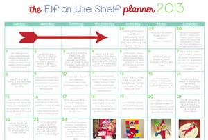 Shelf Planner Elf On The Shelf Planner 2013 One Happy Mama