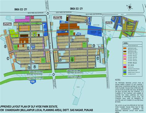 layout plan of chandigarh sectors dlf hyde park in mullanpur chandigarh buy sale plot online