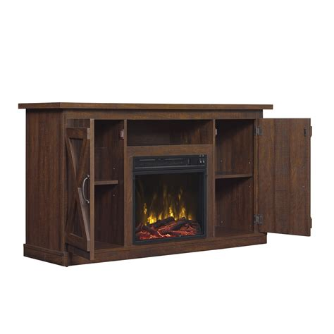 electric fireplace 55 tv stand cottonwood tv stand for tvs up to 55 quot with electric