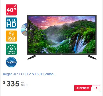 "price drop: kogan 40"" led tv & dvd combo (series 7 lf7000"