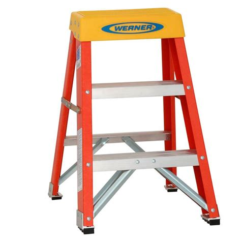 5 Ft Step Stool by Werner 2 Ft Fiberglass 300 Lb Type Ia Step Ladder