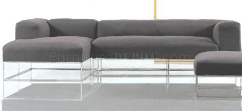 metal frame sectional sofa black fabric modern sectional sofa w high polished metal frame