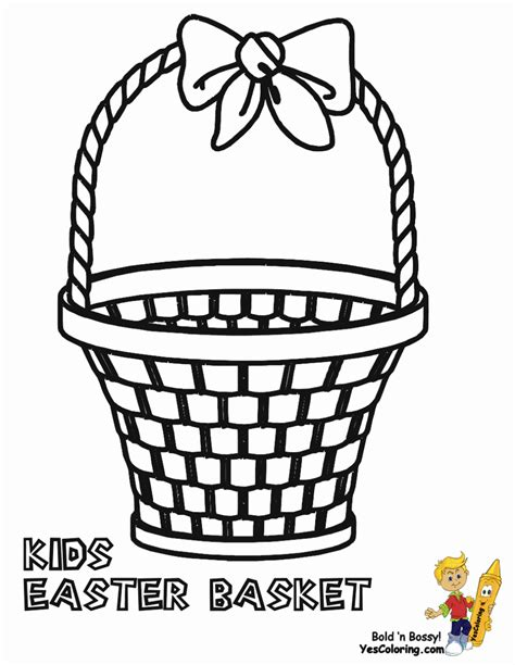 coloring pages of easter baskets empty basket coloring page coloring home