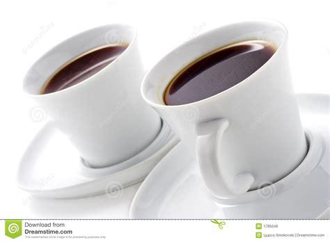 imagenes de varias tazas de cafe dos tazas de caf 233 imagen de archivo libre de regal 237 as