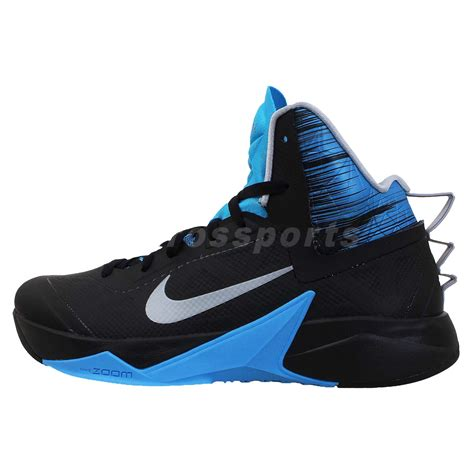 black and blue nike basketball shoes nike zoom hyperfuse 2013 xdr black blue mens basketball
