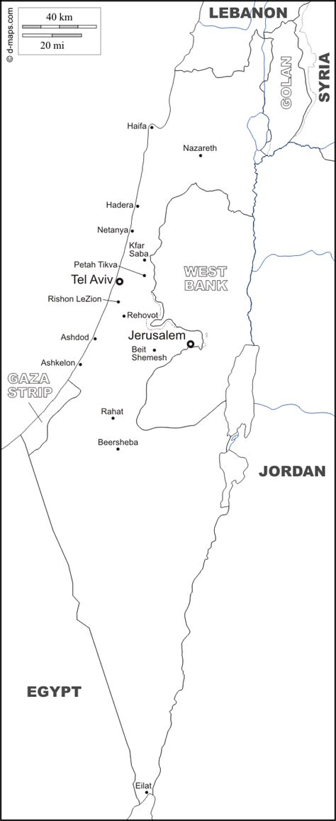 Free Outline Map Of Israel by Israel Free Map Free Blank Map Free Outline Map Free Base Map Boundaries Hydrography Buffer