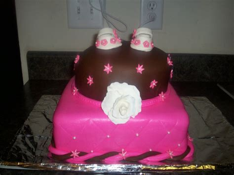 Brown And Pink Baby Shower by Pink And Brown Baby Shower Cake Cakecentral