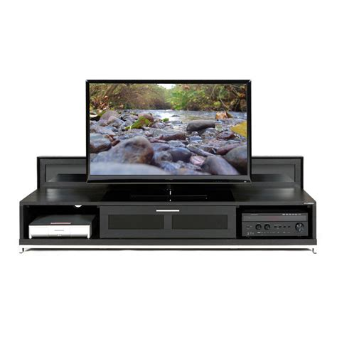woodworking television shows plateau valencia series backlit modern wood tv stand for