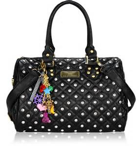 wholesale bag black quilted tote bag with decoration