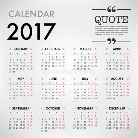 calendar design quote calendar for 2017 template design on white background