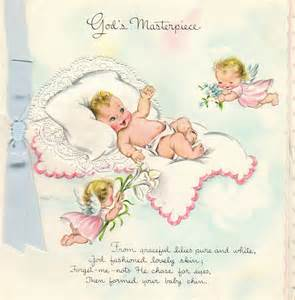 organized clutter new baby greeting cards 1956