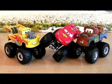 lightning mcqueen monster truck videos custom monster trucks drag star mater lightning mcqueen