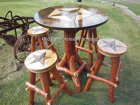 Log Pub Table And Stools by Custom Made Rustic Log Quot Design Quot Bar Pub Table With
