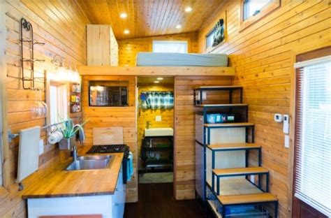 Small Loft extra touches make a 37k tiny house on wheels excel