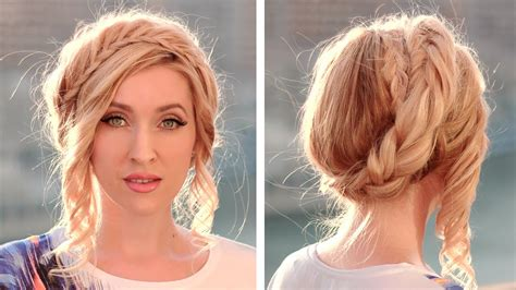 how to do an updo with halo extentions halo crown braid tutorial milkmaid braids updo hairstyle