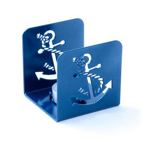 kerzenhalter teelicht teelicht kerzenhalter anker blau kerze licht
