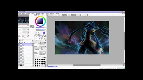 paint tool sai mega aura of black speed paint mega lucario