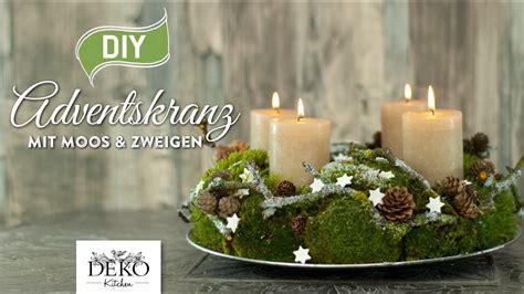 Deko Ideen Garten 3602 by Diy Adventskranz Aus Naturmaterial Mit Moos Zweigen