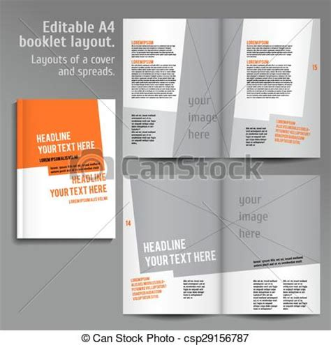 html layout book vector of a4 book layout design template with cover and 2