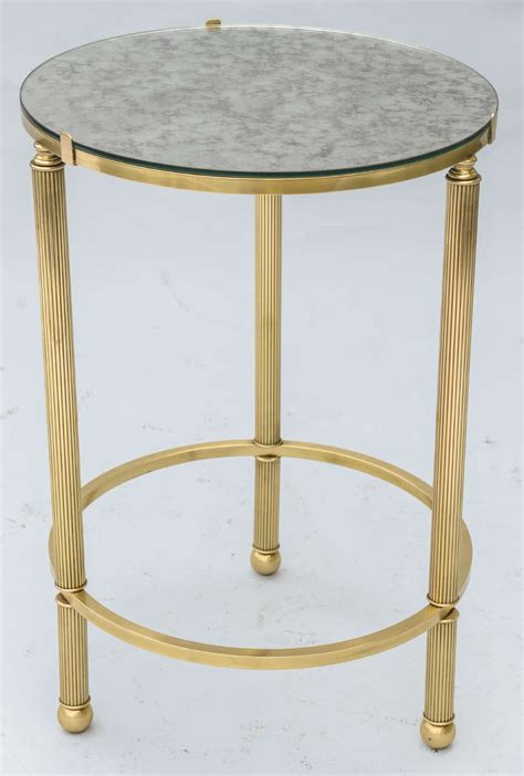 brass accent table round brass accent table with mirrored top at 1stdibs